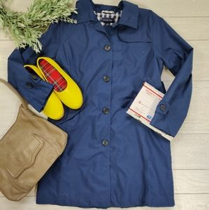 Land's End navy trench coat
